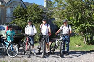 Spirituality and Health - David W. Allan famiy bike ride.