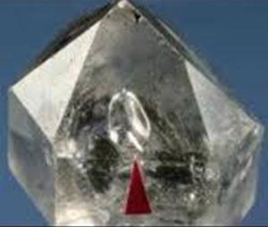 enhydro-quartz crystals